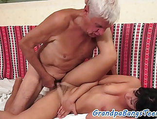 Blonde Eurobabe toying in front of two uber pornos