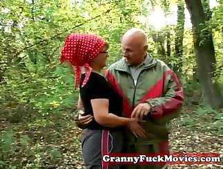 Bouse granny outdoors