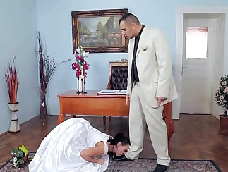 Big dick adds a little BDSM to marriage