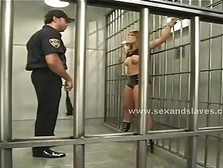 Blonde sex slave first two outdoor