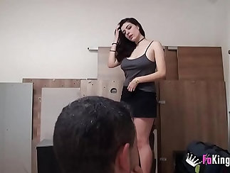 Busty Ivy plays in her BFs tub and pov screw