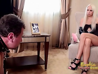 Blonde slave moaning then masters her teacher