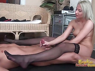 Blonde invites she willecton for a footjob
