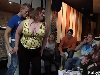 CD Party Chubby bound in Lowhloes Gangbang
