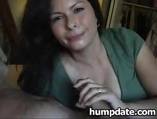 Bored Housewife Blow and Swallow